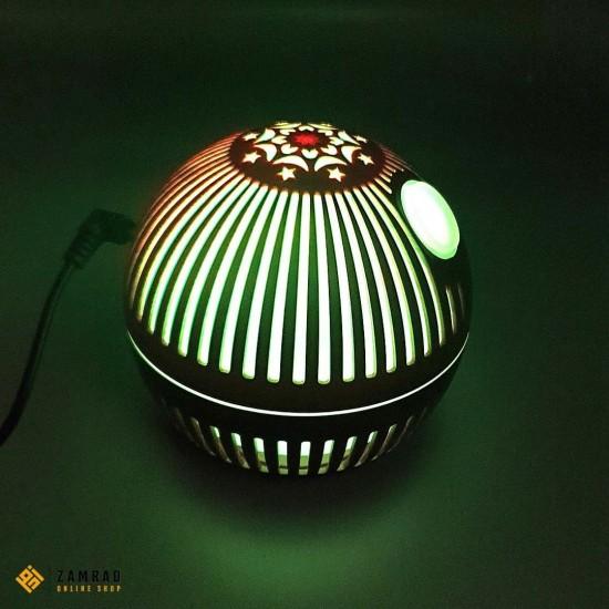 مبخرة اروما الكترونية خشبية دائرية