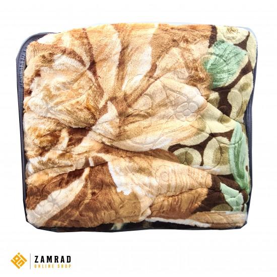 حرام دبل مزخرف لون سكري وبني قياس 200×240 سم
