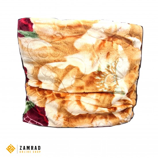 حرام دبل مزخرف لون عسلي و احمر قياس 200×240 سم